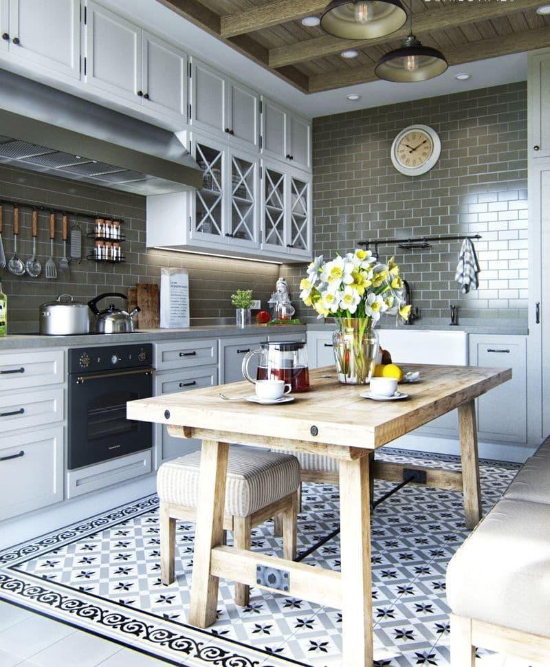 Обеденный стол для кухни в стиле прованс 1