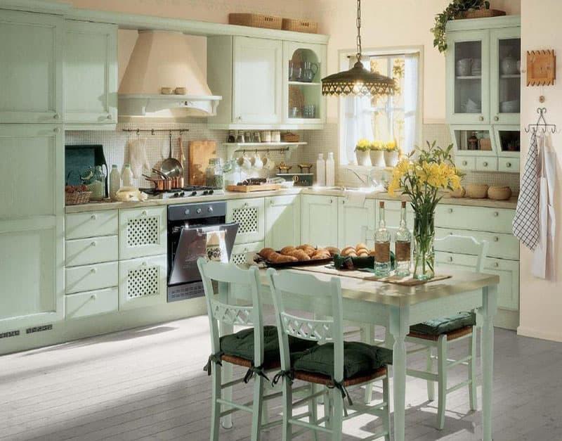 Обеденный стол для кухни в стиле прованс 3