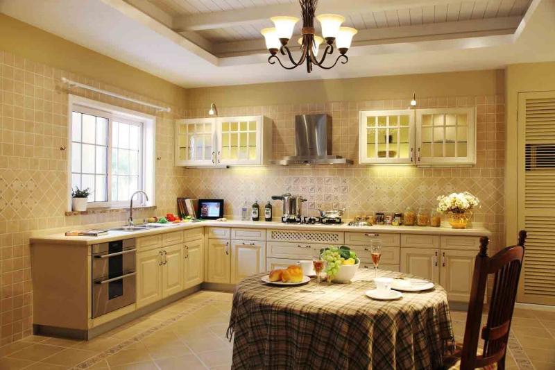 Оформление стен в кухне в стиле прованс 5
