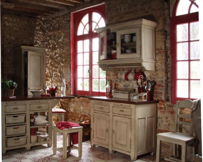 Окна для кухни в стиле прованс 1