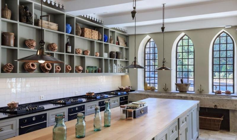Окна для кухни в стиле прованс 2