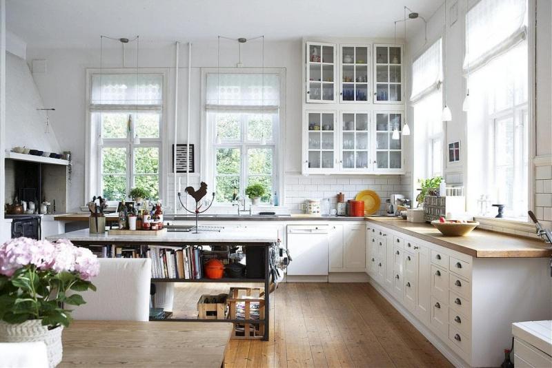 Окна для кухни в стиле прованс 3