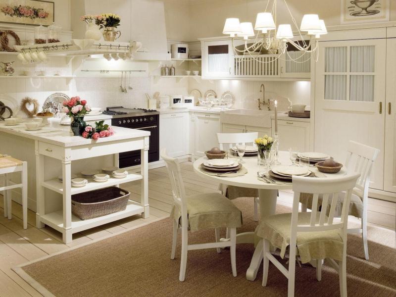 Освещение на кухне в стиле прованс 1
