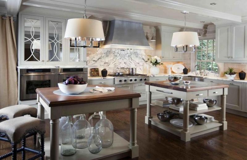 Планировка кухни в стиле прованс 2