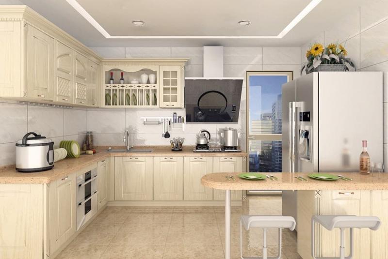 Планировка кухни в стиле прованс 4