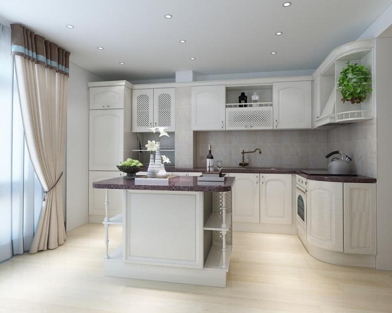 Потолок для кухни в стиле прованс 1