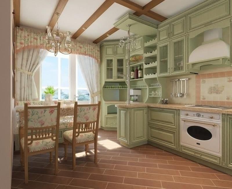 Шторы для кухни в стиле прованс 6