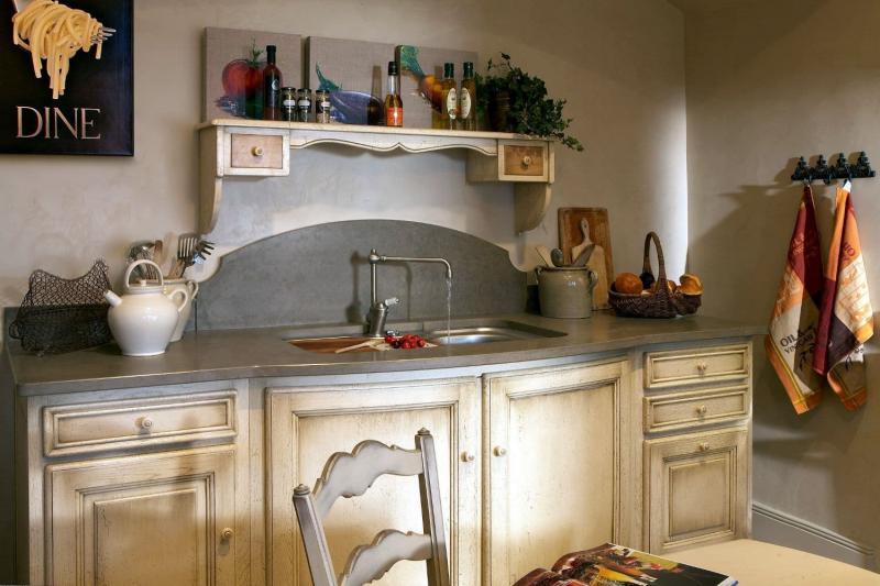 Столешница для кухни в стиле прованс 1