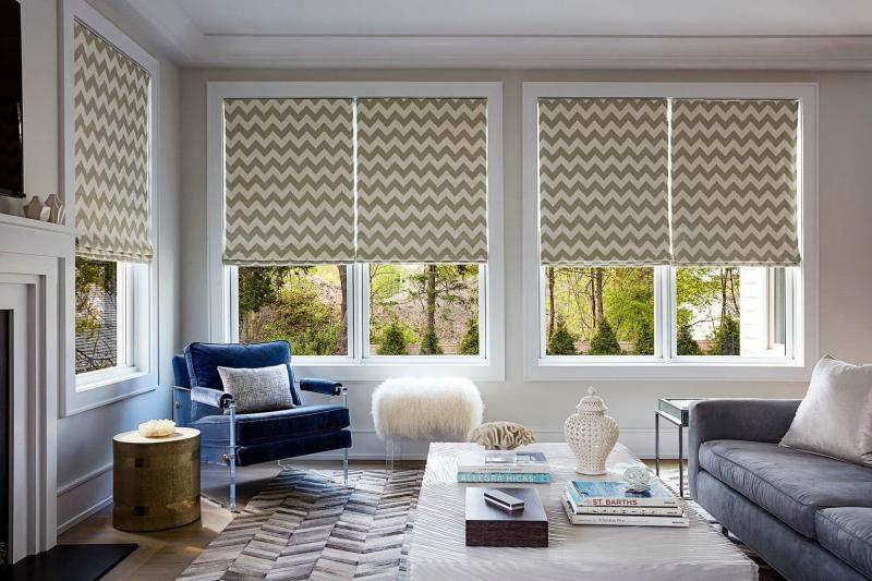 Модели штор в гостиную 2019 римская штора 2