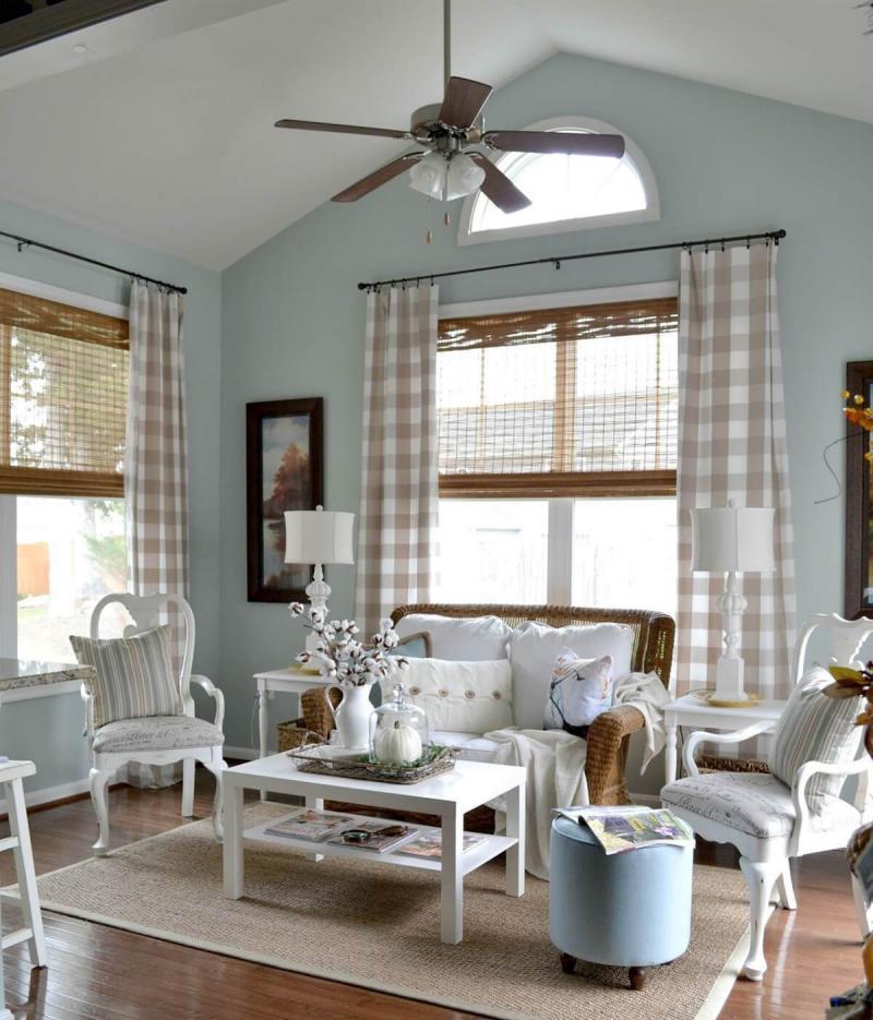 Модели штор в гостиную 2019 в пол 1