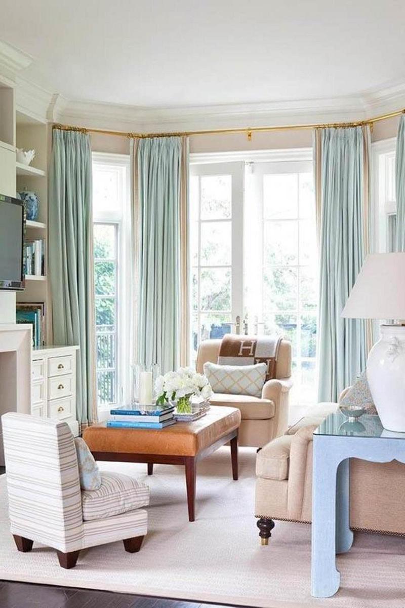 Модели штор в гостиную 2019 в пол 2