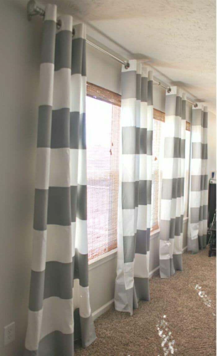 Принт для штор в гостиную 2019 полосы 1