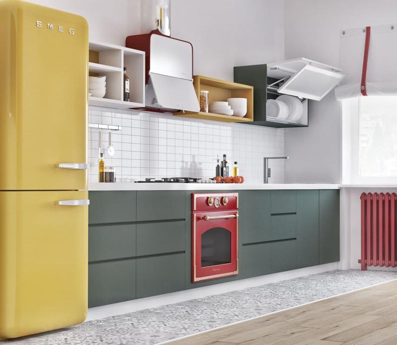 Бытовая техника на кухне в скандинавском стиле 1