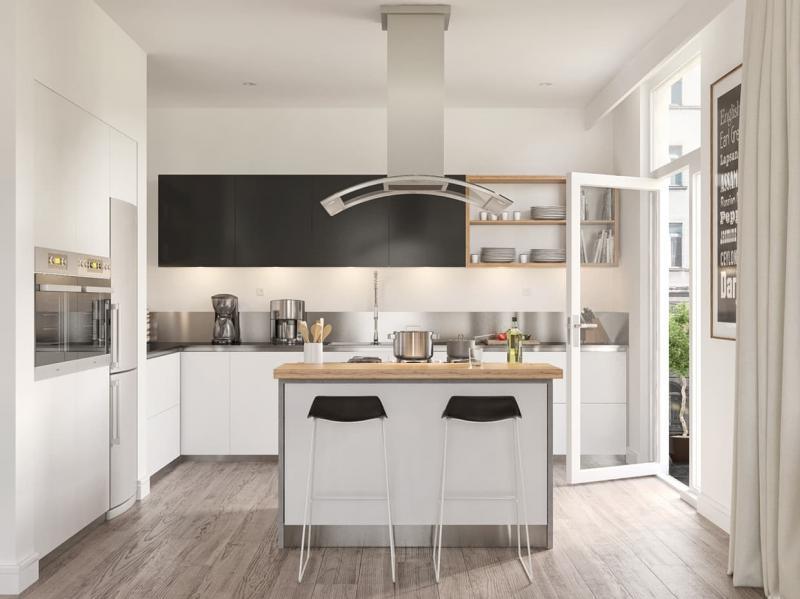Бытовая техника на кухне в скандинавском стиле 4