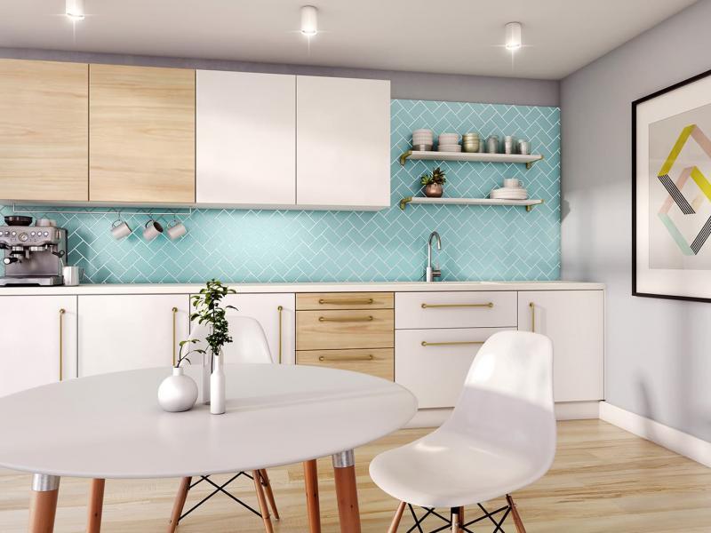 Кухонный фартук в скандинавском стиле 2