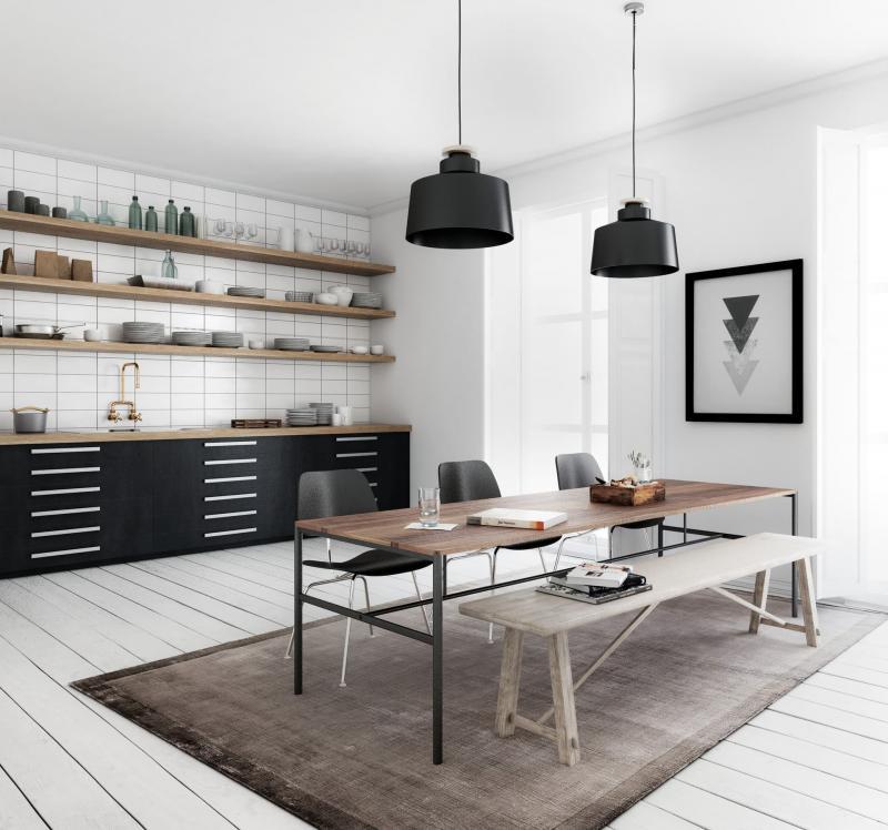 Кухонный фартук в скандинавском стиле 3