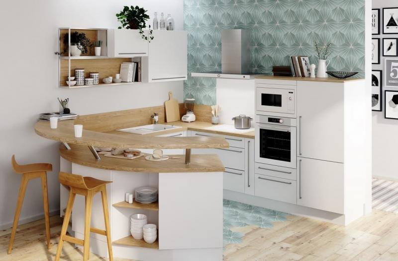 Кухонный гарнитур в скандинавском стиле 4