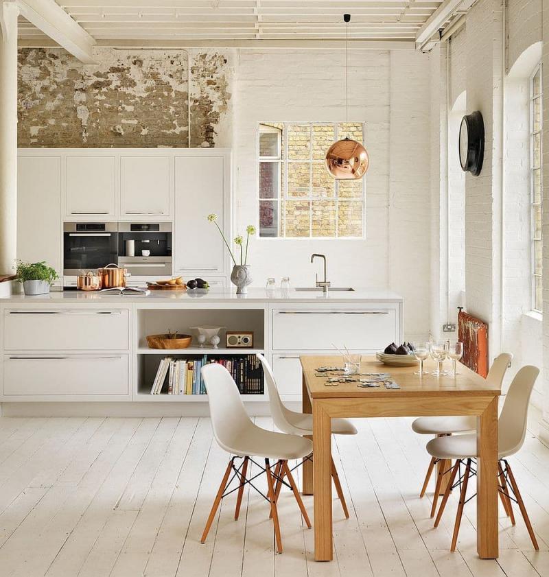 Обеденный стол на кухне в скандинавском стиле 1