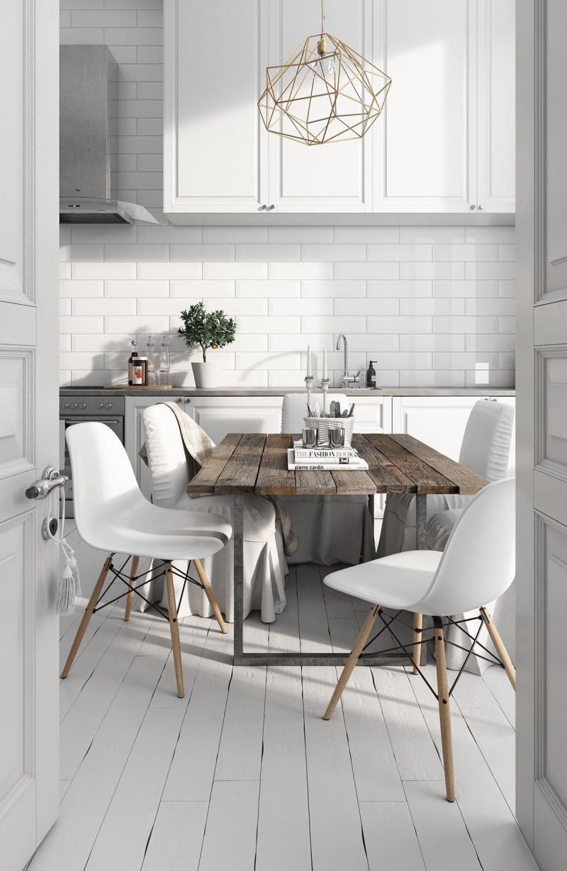 Обеденный стол на кухне в скандинавском стиле 2
