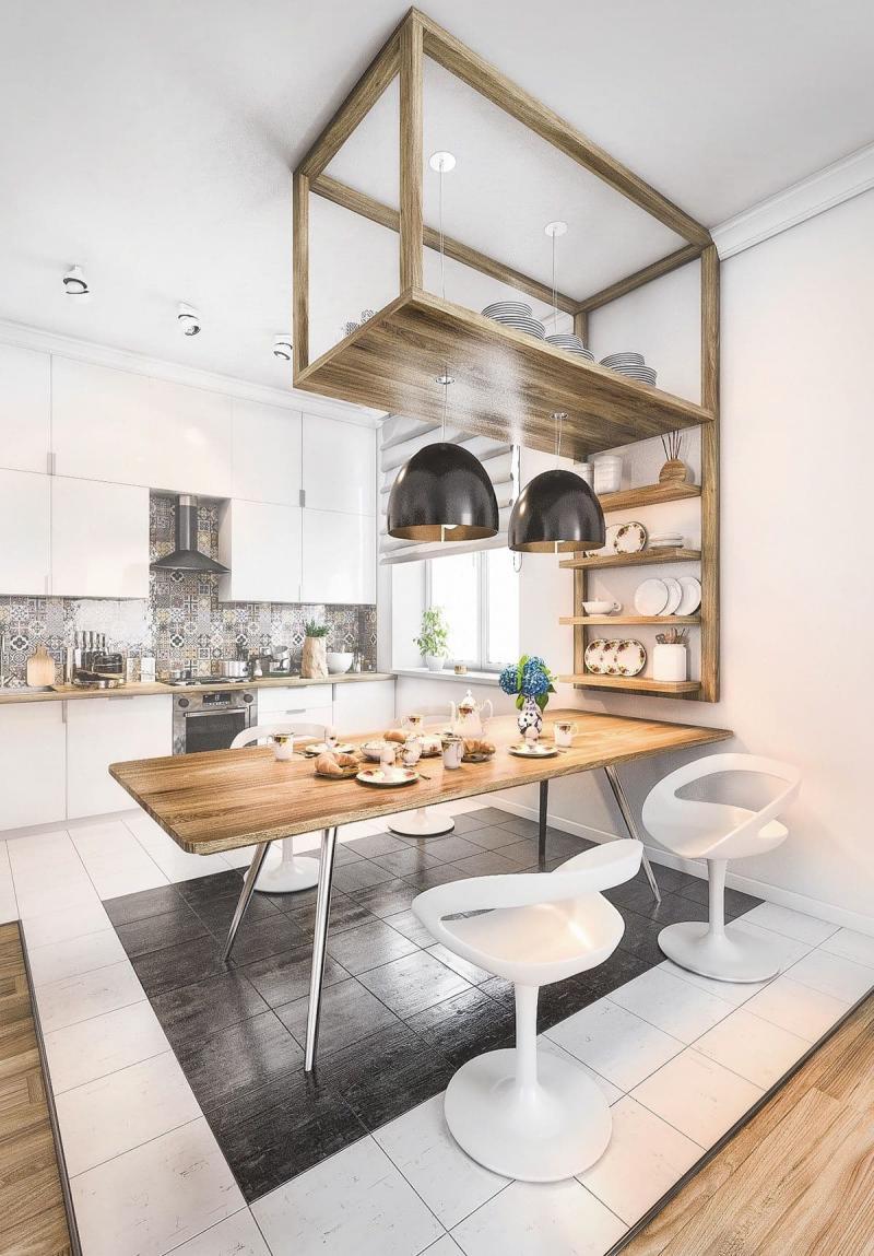 Обеденный стол на кухне в скандинавском стиле 3
