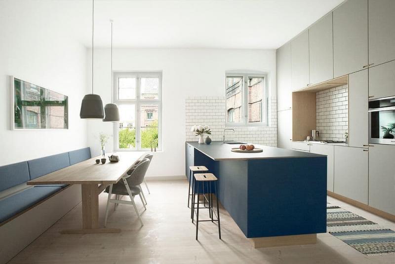 Обеденный стол на кухне в скандинавском стиле 4