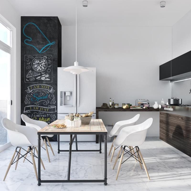 Обеденный стол на кухне в скандинавском стиле 5