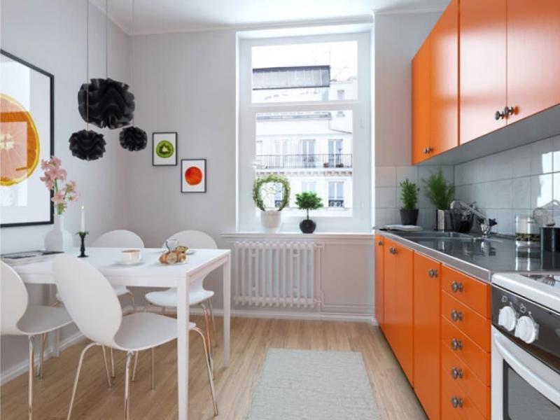 Окна на кухне в скандинавском стиле 3