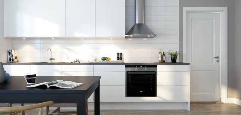 Освещение на кухне в скандинавском стиле 1