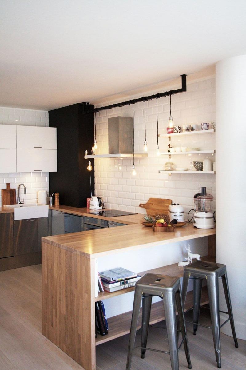 Освещение на кухне в скандинавском стиле 4