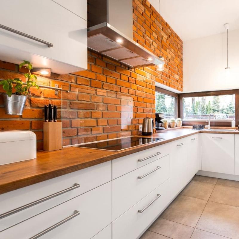 Отделка стен на кухне в скандинавском стиле 2