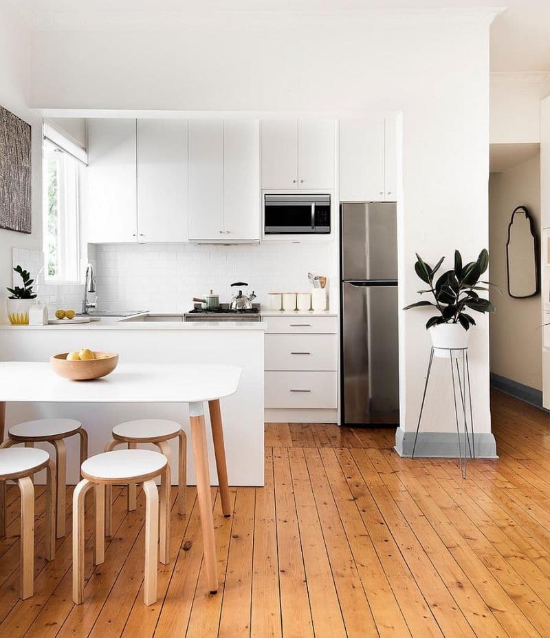 Пол на кухне в скандинавском стиле 2