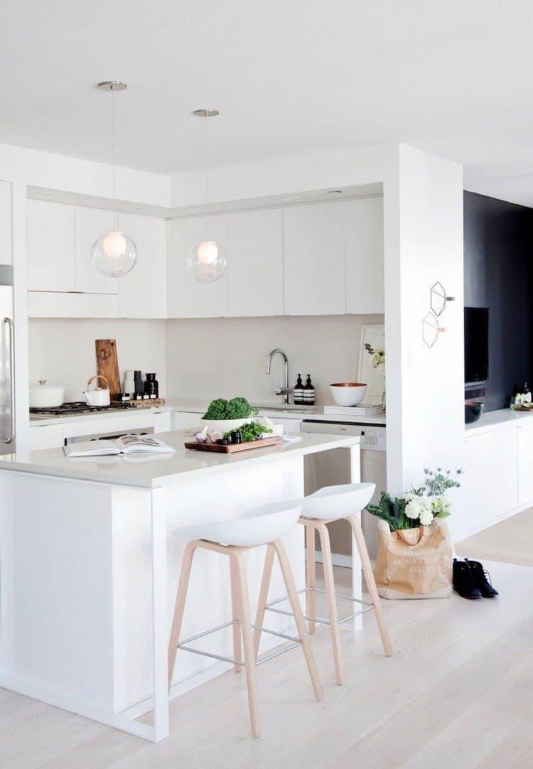 Потолок на кухне в скандинавском стиле 1