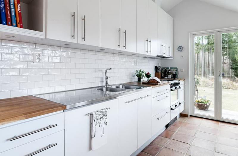 Столешница на кухне в скандинавском стиле 3