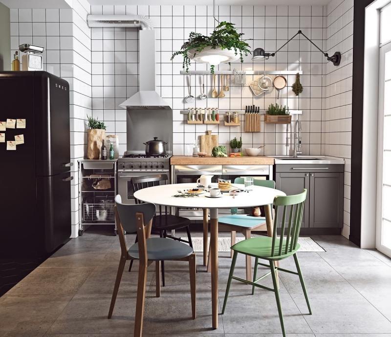 Стулья для кухни в скандинавском стиле 1