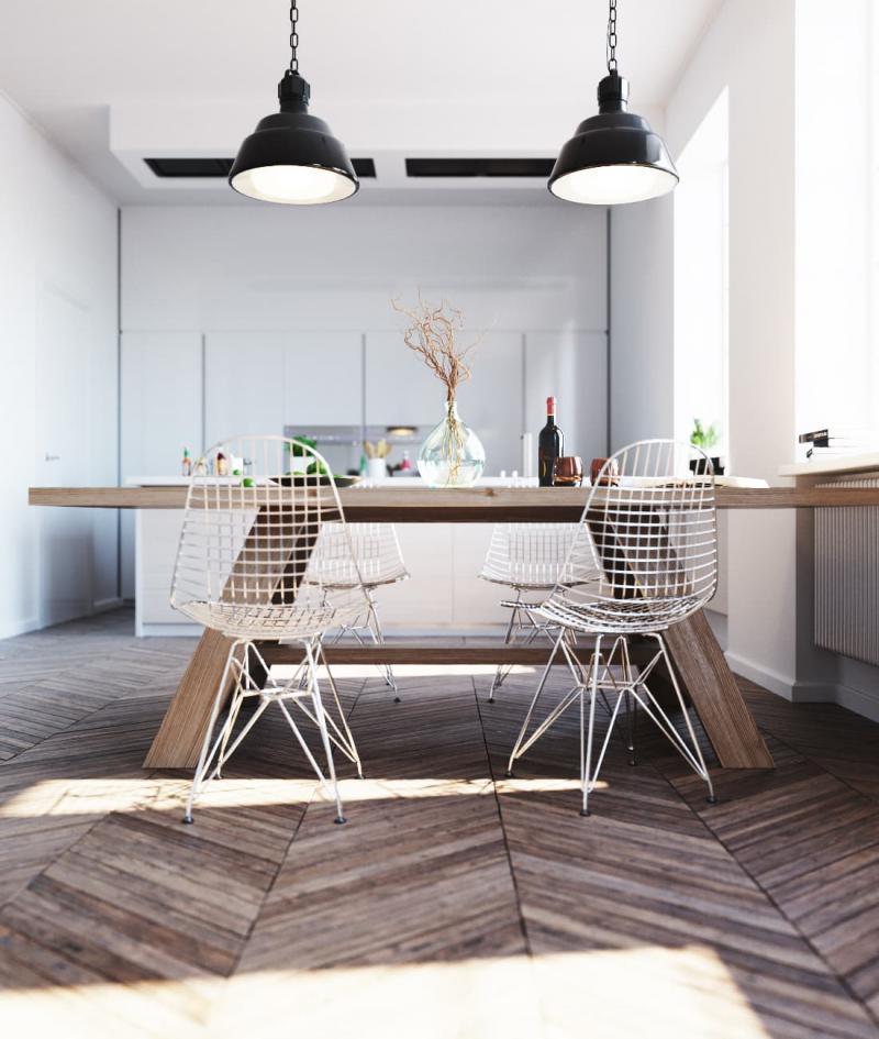 Стулья для кухни в скандинавском стиле 3