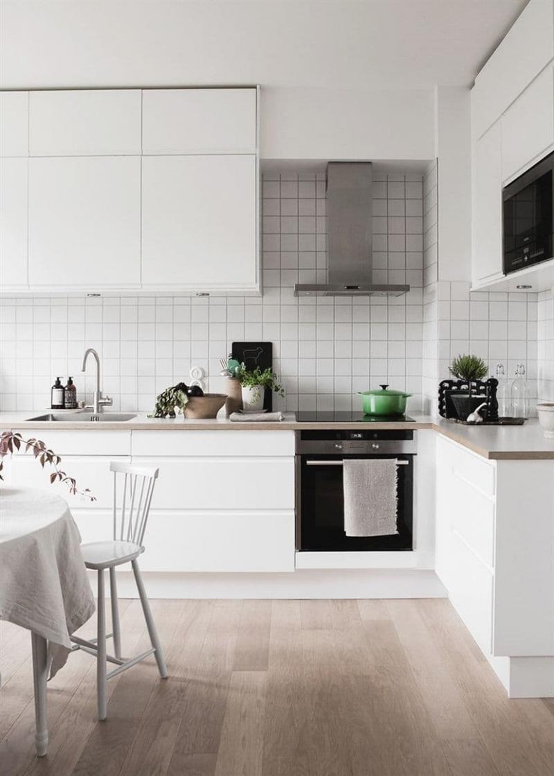 Вытяжка на кухне в скандинавском стиле 5