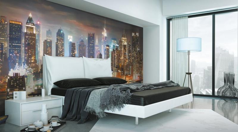 Фотообои в маленькой спальне 1