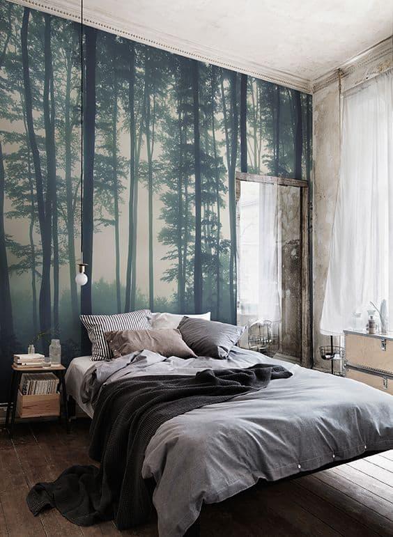 Фотообои в маленькой спальне 3
