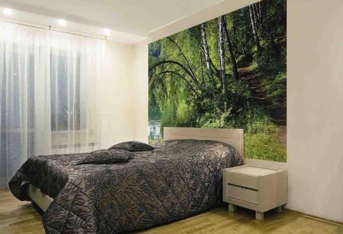 Фотообои в маленькой спальне 4