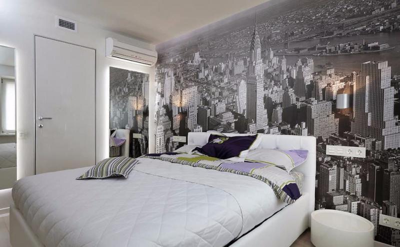 Фотообои в маленькой спальне 5