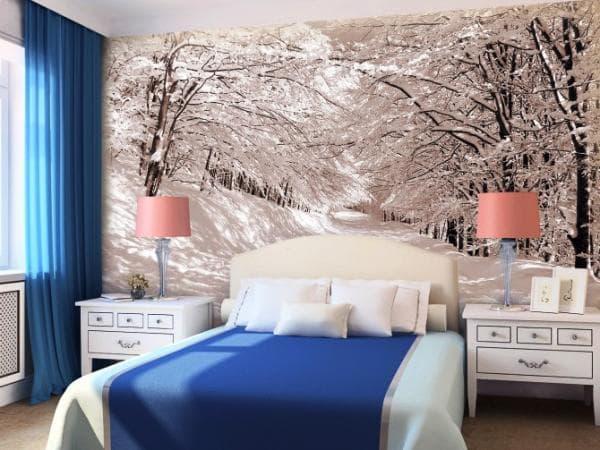 Фотообои в маленькой спальне 6
