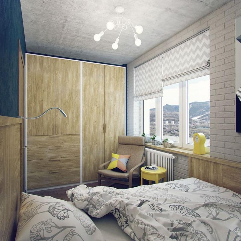 Кресло в маленькой спальне 2