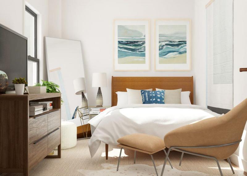 Кресло в маленькой спальне 3