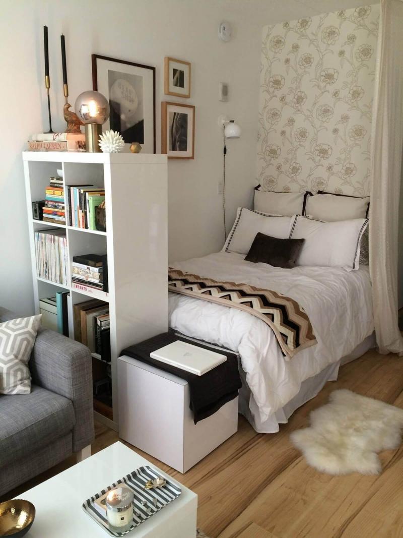 Маленькая спальня в квартире студии 1