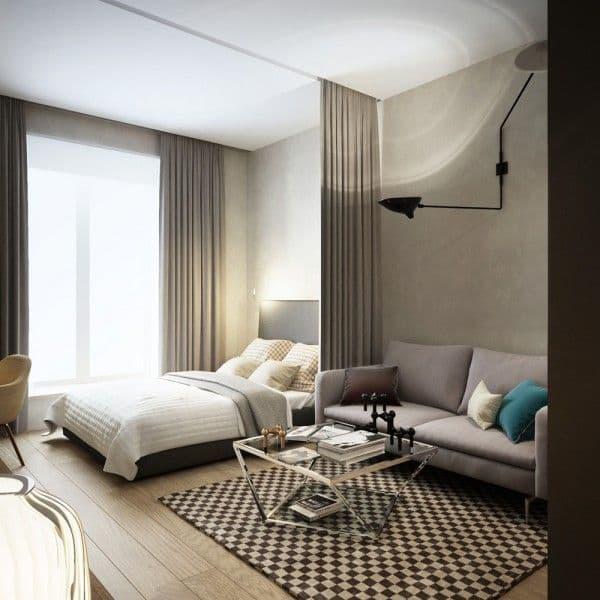 Маленькая спальня в квартире студии 5