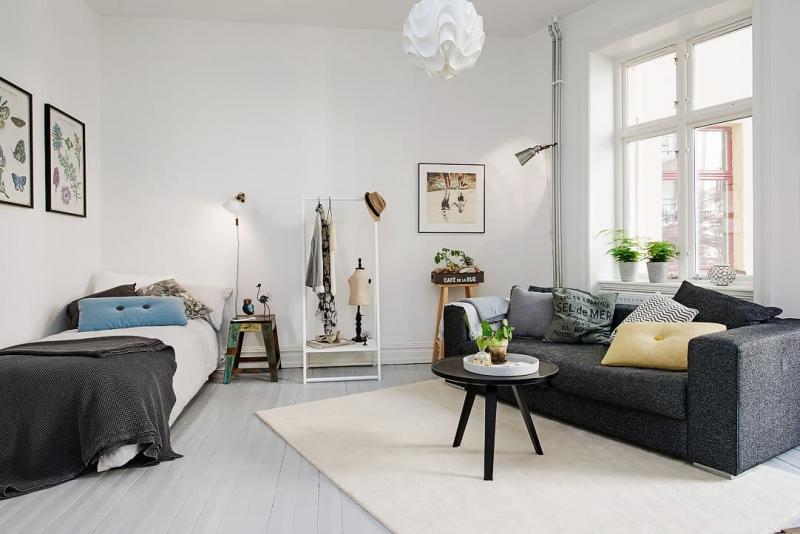 Маленькая спальня в квартире студии 6