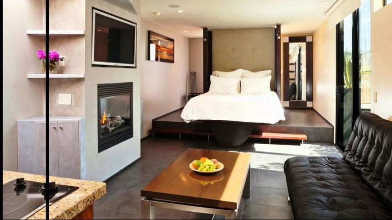 Маленькая спальня в квартире студии 7