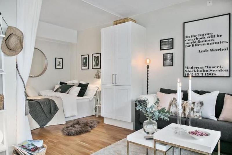 Маленькая спальня в квартире студии 8