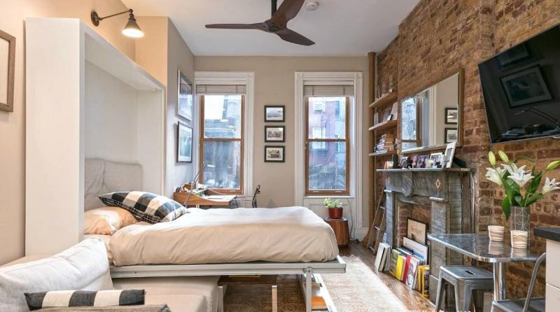 Маленькая спальня в квартире студии 9