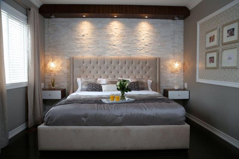 Облицовка стен в маленькой спальне 3